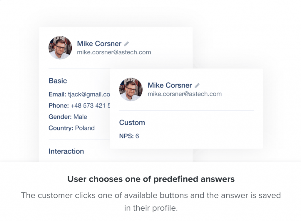 Individual user profile after conversation with chatbot_User.com