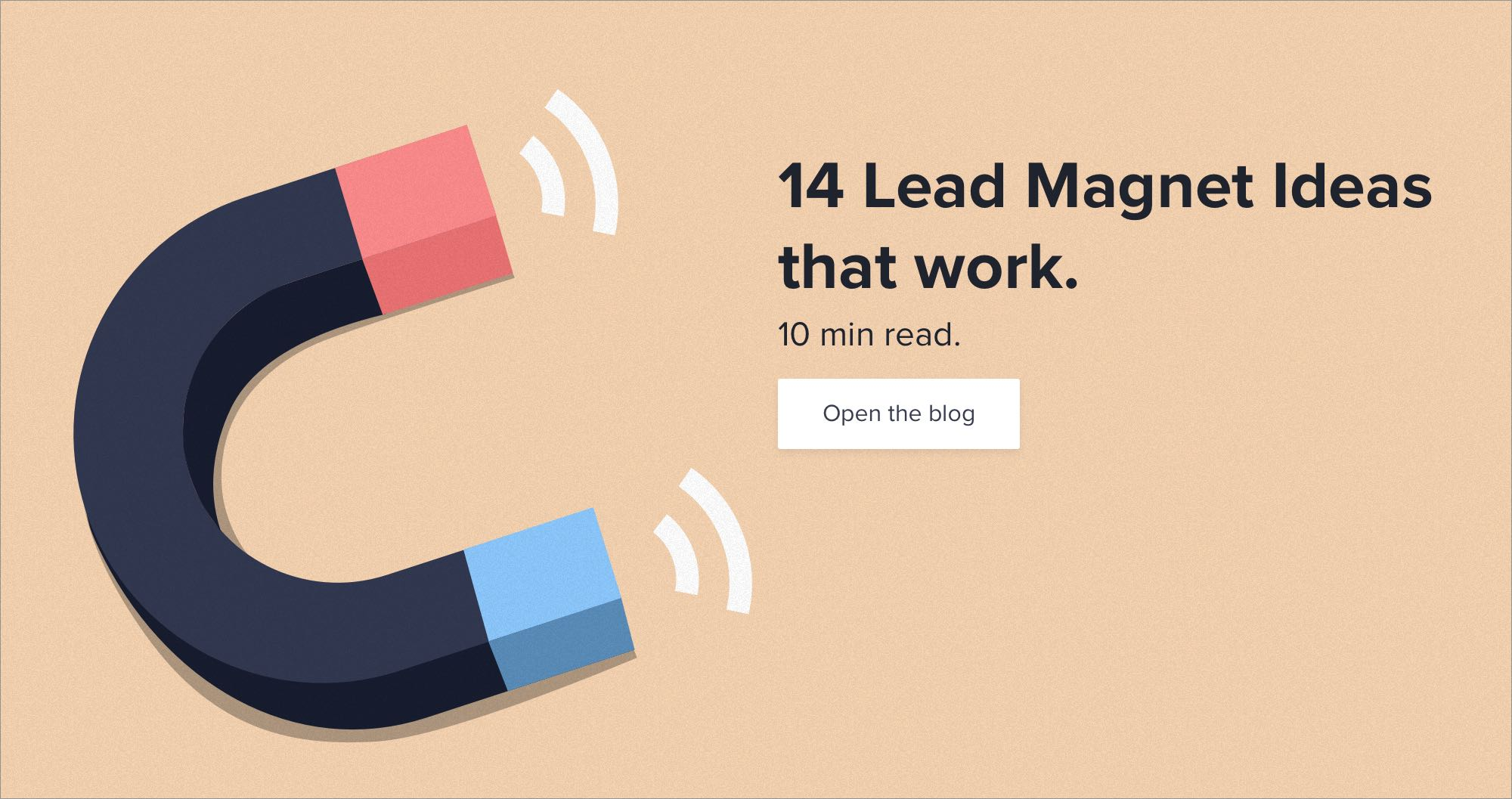 Generate and nurture more leads with the most effective lead magnets.