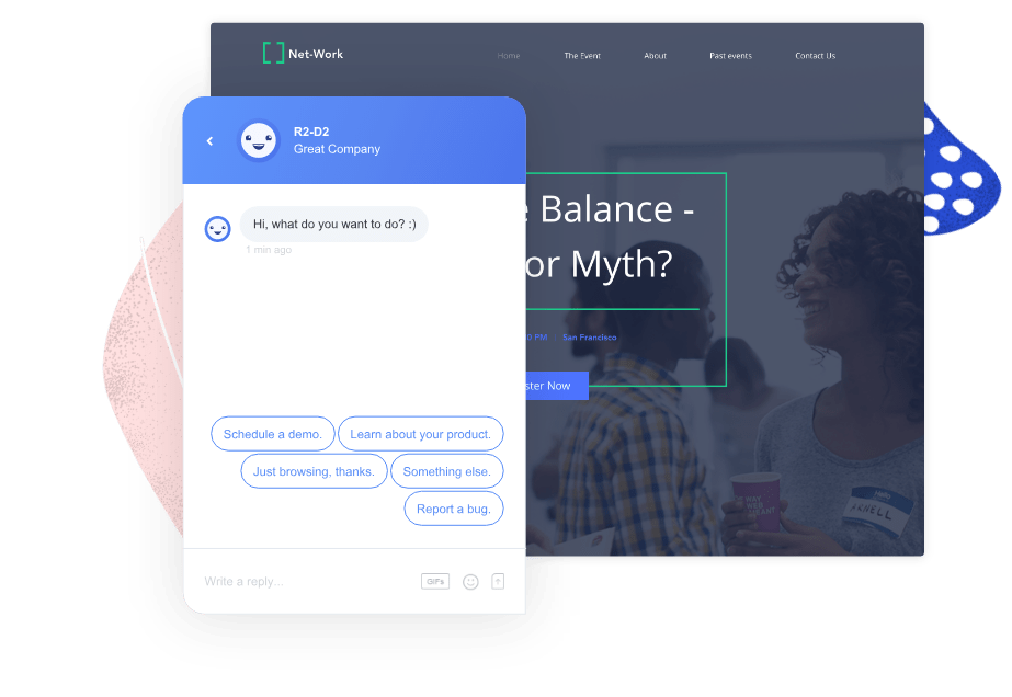 chatbot on business website