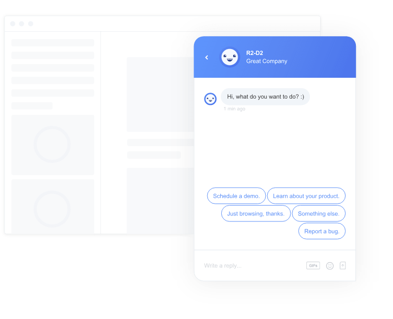 chatbot predifined answers buttons