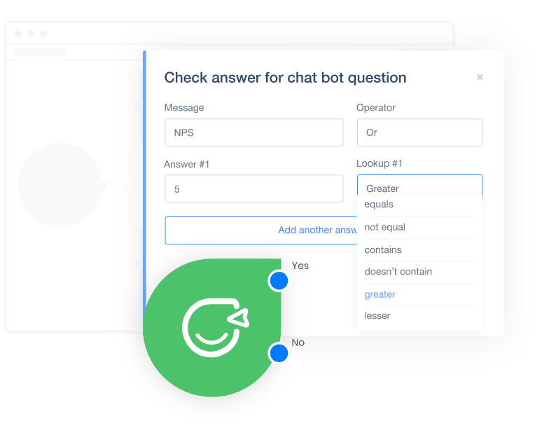 checking text in chatbot answers
