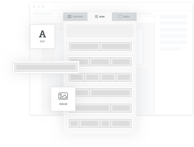 Email drag and drop builder